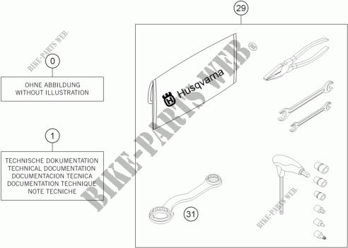 Tool Kit Manuals Options For Hva 701 Enduro 2018 Husqvarna Motorcycles Genuine Spare Parts Catalogue