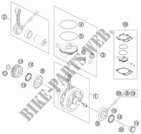CRANKSHAFT / PISTON for HVA FE 450 2013