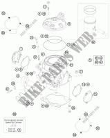 CYLINDER / HEAD for Husqvarna TE 250 2011